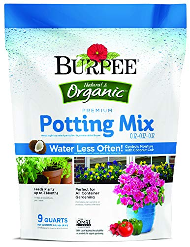 Burpee Premium Organic Potting Mix, 9 Quart