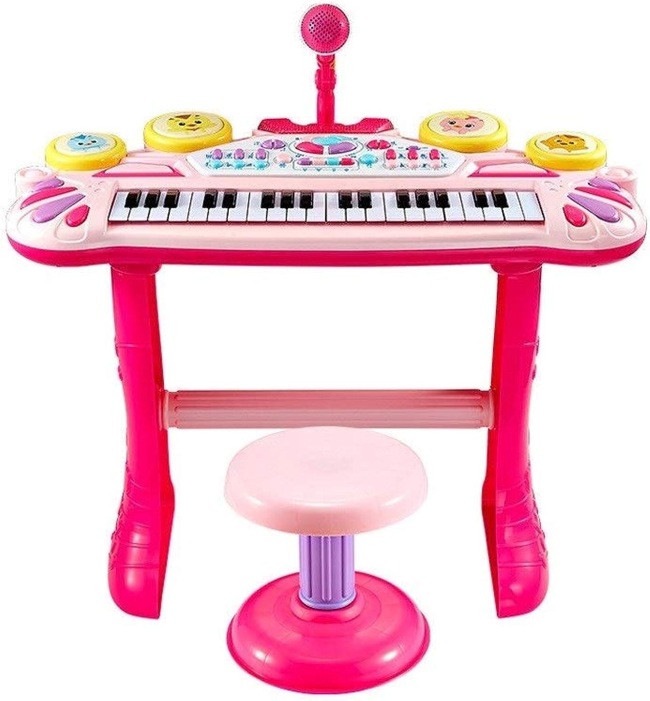 LIUFS-Tastatur Mdchen Spielzeug Multi-Funktions-Keyboard Beat Schlagzeugmusik Songs Cute Fun Piano Experience Geburtstagsgeschenk (Farbe   B)