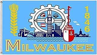 City of Milwaukee Wisconsin Large flag Size 3X5Feet