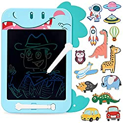 6. CUTE STONE 2-in-1 11″ LCD Dinosaur Writing Tablet Doodle Board with Magnetic Stickers