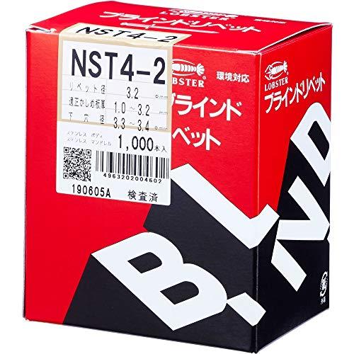 ロブテックス エビ ブラインドリベット 1000本入 ステンレス ステンレス NST42_1065