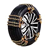 Chaine Neige Easy Grip, Chaines Neige Universelle Facile Quad Rapide Utilitaire Chaine Voiture Neige, Camping Car, SUV, Trak (B, M (205-225mm))