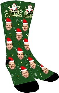 ABIsedrin, Calcetines personalizados, calcetines divertidos con foto, Calcetines Navideños, regalo del día del padre, cumpleaños, día de Navidad