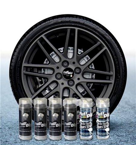 Sophisticauto Full Dip Packs Ahorro Llantas 6 Sprays Antracita Metalizado Brillo