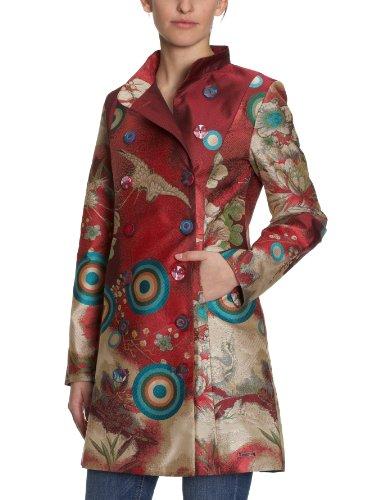 Desigual - Manteau mi-long - Femme - Rouge-Tr-J3-21 -FR : 42 (Taille fabricant : 40)