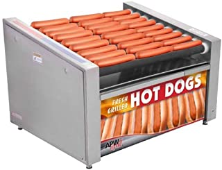 """APW Wyott HRS-50BW 35"""" Hot Dog Roller Grill with Tru-Turn Rollers and Bun Drawer - 120V (Renewed)"""