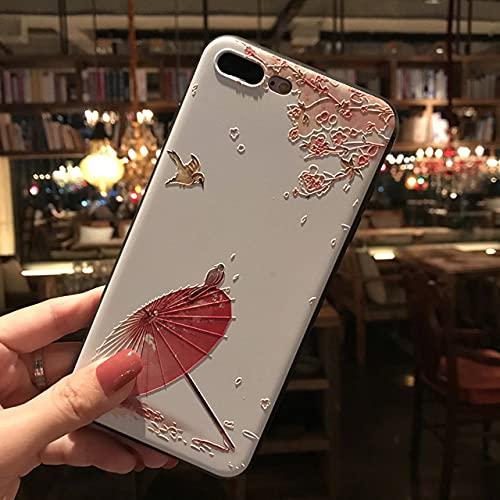 Funda para teléfono en Relieve 3D para iPhone X XS XR 11 12 Pro MAX Funda Trasera Mate de TPU Suave para iPhone 6 7 8Plus Capa Coque, 5, para iPhone 6 6s