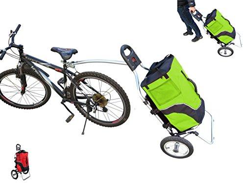 Polironeshop Geko Trolley für Fahrradanhänger Fahrradanhänger Einkaufstrolley Gepäckträger Transport Radfahren X (grün)