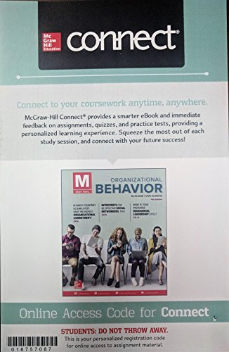 Connect 1 Semester Acess Card for M: Organizational Behavior