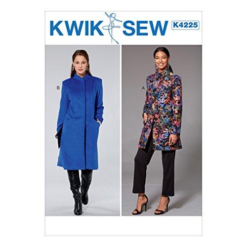 KWIK-SEW PATTERNS Misses' Princess Seam Jacket & Coat with High Collar Sewing Pattern XS-S-M-L-XL