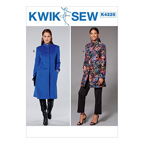 KWIK-SEW PATTERNS Misses' Princess Seam Jacket & Coat with High Collar Sewing Pattern XS-S-M-L-XL