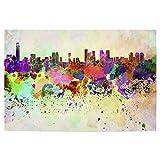 artboxONE Poster 150x100 cm Städte Tel Aviv Skyline in