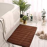 Cuarto de baño puerta absorbente piso alfombra dormitorio antideslizante pie pad baño alfombra alfombra alfombra alfombra de cocina marrón patrón vertical alfombra de baño 40x60cm