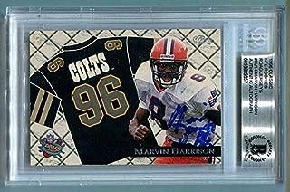 Marvin Harrison Autographed Signed Memorabilia 1996 Classic NFL Rookie Jerseys Autographed Signed Memorabilia Colts - Beckett Authentic