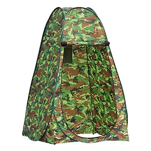 SunniMix Carpa de Ducha de Privacidad- Up Cambio de Carpa Campamento Ducha Aseo Carpa Refugio portátil habitación - 1,2 Metros de Camuflaje