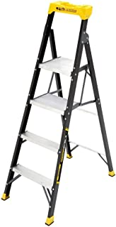 Gorilla Ladders 5.5 ft. Fiberglass Hybrid Ladder with 250 lb. Load Capacity Type I Duty Rating (Comparable to 6 ft. Step