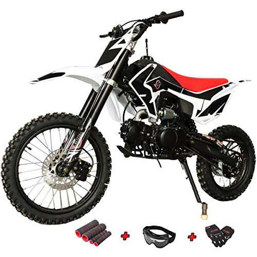 "X-PRO Titan 125cc Zongshen Engine Dirt Bike Pit Bike Adults Dirt Pit Bike with 4-Speed Manual Transmission,Big 17""/14"" Tires! (Black)"