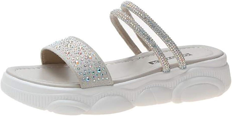 Women's Summer Fashion Rhinestone Sandals Leisure Motion Slippers