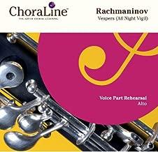 Rachmaninov Vespers (All Night Vigil) Double CD ALTO Rehearsal CD