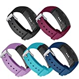 Compatible with Gear Fit2 Bands, GHIJKL 5 Pack Silicone Replacement Strap for Samsung Gear Fit 2 & 2 Pro Tracker