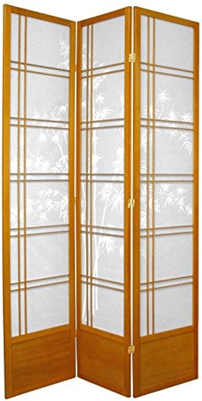 Oriental Furniture Home Decor Sakura, 7-Feet Bamboo Tree Japanese Folding Shoji Privacy Screen, Honey 3 Panel