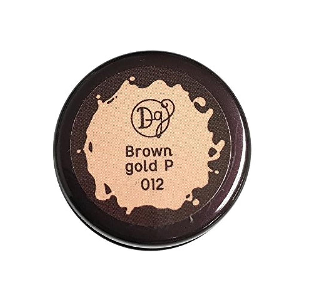 教養がある固めるフラスコデコラガール カラージェル 012 ブラウンゴールドペール 3g