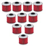 Tvent 116 HF116 Oil Filter for Honda CRF150R CRF250R CRF250X CRF450R CRF450X Motorcycle ATV Parts (Pack of 10)