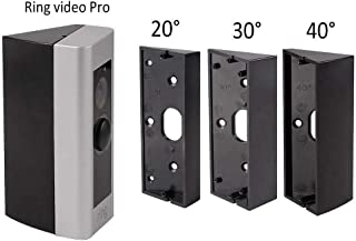 Doorbell Bracket Mount for Ring Video Doorbell Pro, Angle Adjustment Adapter Mounting Plate Bracket Wedge Kit by HOLACA