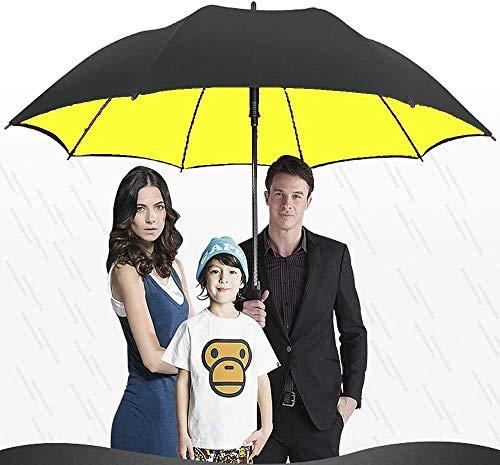 AAGYJ Übergroßer 68-Zoll-Golfschirm, winddichter, regensicherer, doppelschichtiger, extra großer Regenschirm mit 150 cm Durchmesser und großem Sonnenschirm mit großem Sonnenschirm,Gelb
