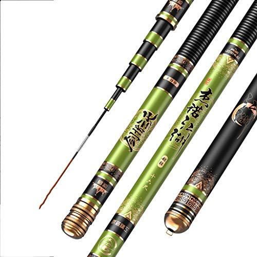 Hong Yi Fei-Shop Barra para Pesca Caña de Pescar Mano Varilla de Carbono Super Light Super Hard Rod de la Carpa de Taiwán caña de Pescar retráctil caña de Pescar cañas de Pescar (Size : 4.5 Meters)
