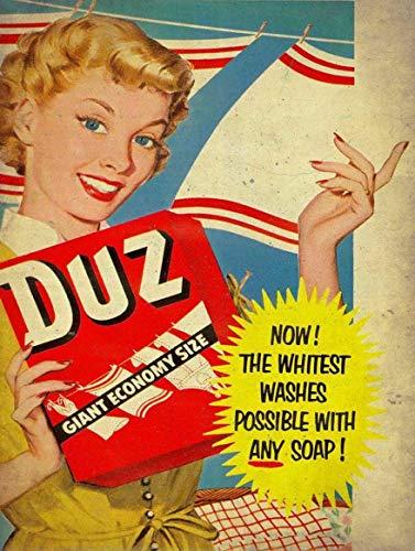 "Tin Sign Vintage Chic Art Decoration Poster Duz Detergent for Store Bar Home Cafe Farm Garage or Club 12"" X 8"""