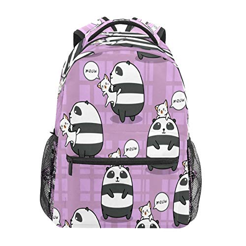 College Bookbag Business Laptop Backpack Travel Hiking Camping Daypack Panda Cat Is Best Friend Large Diaper Bag Doctor Bag School Backpack Water Resistant Anti-Theft for Children Women Men
