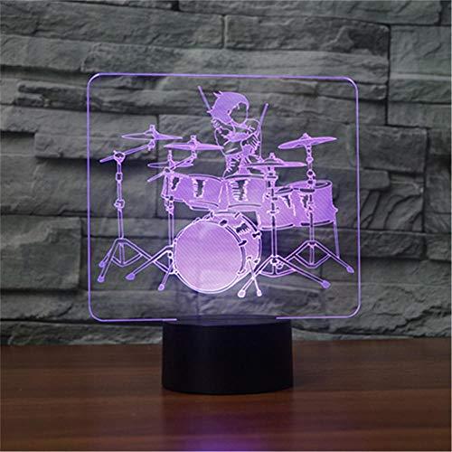 Luz de noche 3D para niños, 16 colores que cambian la lámpara de noche con control remoto, regalo de cumpleaños para niños y adultos kit de batería