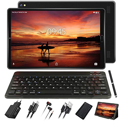 tablet con sim telefonica GOODTEL Tablet 10 Pollici Tablet Android 4G con 3 slot (Dual SIM + SD) Processore Quad Core 1.5GHz