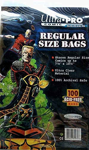 Ultra Pro Comic Bags Current Size (100 ct.)