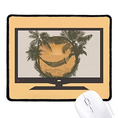 Kokosnoot boom wolk hangmat strand computer muis pad anti-slip rubber muismat spel kantoor