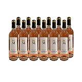 Bergerac Vin d'une nuit Rosé 2019 - Domaine du Haut-Montlong - Vin AOC Rosé du Sud-Ouest - Cépages Merlot, Cabernet Sauvignon - Lot de 12x75cl