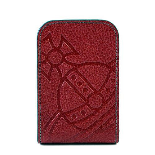 (ヴィヴィアンウエストウッド) Vivienne Westwood 正規品 BIG ORB レザー シガレットケース 本革 1518945-1-F ショップバッグ付 (レッド)