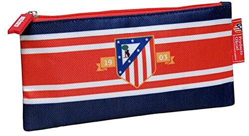 Atletico de Madrid- Estuche portatodo Plano Bordado, Multicolor, 21 cm (CYP Imports PT-221-ATL)