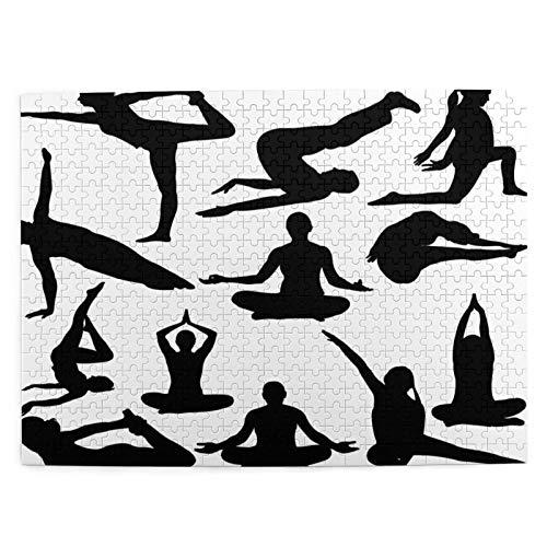 Puzzle 500 Piezas Adultos,Rompecabezas,Posturas de yoga Mujer Relajación corporal Chakra Místico Hobby Tema Hippie,Juegos Educativos,Entretenimiento Adultos,Niños y Adolescentes,Divertido Regalo