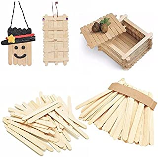 Ice Cream Sticks - 50pcs Lot Burlywood Ice Lolly Stick Natural Wooden Cream  Sticks Kids Hand ec7465aac