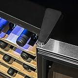 Cecotec Weinkühlschrank von 8-16 Flaschen. Tür aus Kristall- Design, Paneel Taktil und LED Bildschirm. (16, Holz) - 2