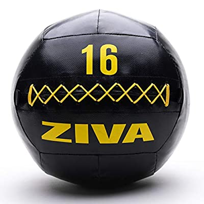 ZIVA Commercial-Grade Soft Wall Ball Medicine Ball - 7 Weights Available - Core Training Exercises, Strength and Conditioning Workout, Balance and Agility