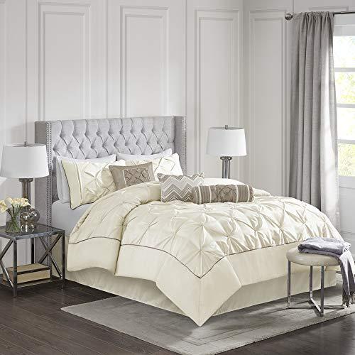 Madison Park Laurel Comforter Set Cal King Ivory, California