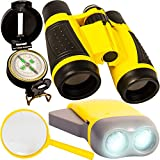 Outdoor Set for Kids - Binoculars, Flashlight, Compass & Magnifying Glass. Explorer Toys