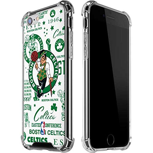Skinit Clear Phone Case Compatible with iPhone 6/6s - Officially Licensed NBA Boston Celtics Historic Blast Design