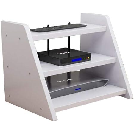 Caja Inalámbrica WiFi Set De Estantería Caja De Almacenamiento del Router Accesorios Multimedia Tres Capas, 5 Colores. (Color : D)