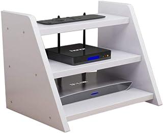 Caja Inalámbrica WiFi Set De Estantería Caja De Almacenamiento del Router Accesorios Multimedia Tres Capas, 5 Colores. (Co...