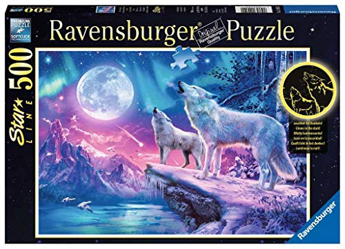 Ravensburger Puzzle 14952 - Wolf im Nordlicht - 500 Teile