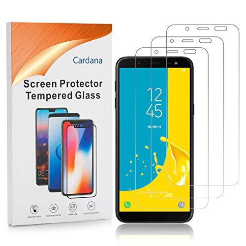 Cardana | 3X bruchsicheres Schutzglas für Samsung Galaxy J6 2018 | Schutzfolie aus 9H Echt Glas